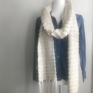 H&M Knitted Scarf with Fringe